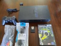Sony Playstation 2 Fat Console Bundle SCPH-39002  *TESTED* *READ DESCRIPTION*