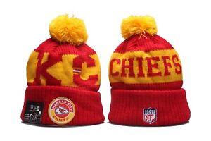 Kansas City Chiefs New Era NFL Knit Hat On Field Sideline Beanie