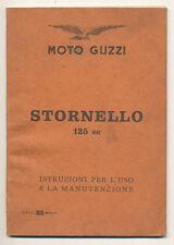 Moto Guzzi Stornello, libretto uso & manutenzione del 1960 RARA II edizione
