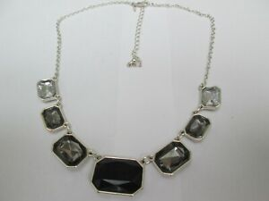 SILVER COLOURED CHAIN NECKLACE AND PENDANTS BY AVON