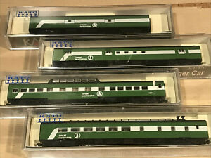 CUSTOM N SCALE PASSENGER KATO GREAT NORTHERN EMPIRE GREEN BN SMOOTH BURLINGTON