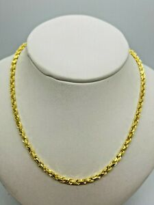 """9ct Yellow Solid Gold Rope Chain - 3.0mm - 26"""" **** CHEAPEST ON EBAY ****"""