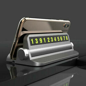 Lot* Car Temporary Parking Stop Phone Number Card Car Phone Holder Stand Mount