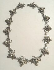 Vintage Mexico Taxco STERLING SILVER 925 Grape Cluster Necklace Mexican