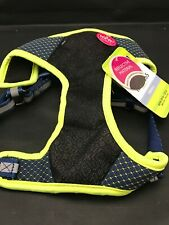 Black Mesh Harness with Bright Yellow piping