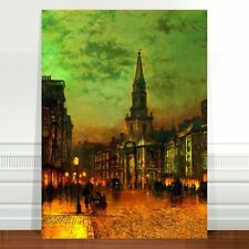 "John Atkinson Grimshaw Blackman Street London ~ FINE ART CANVAS PRINT 24x16"""
