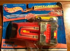 2001 HOT WHEELS  POWER LAUNCHER WITH YELLOW  70 PLYMOUTH BARRACUDA CONVERTIBLE