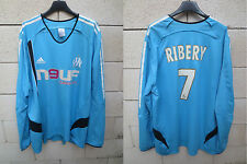 Maillot OM MARSEILLE vintage ADIDAS RIBERY shirt trikot manches longues XXL
