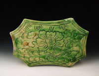 Chinese Antique Green Glazed Pottery Pillow