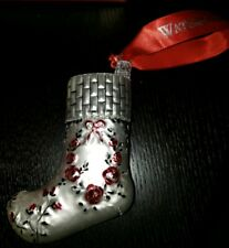 Waterford 1st Edition Holiday Heirlooms Christmas Stocking Ornament W/Box
