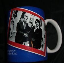 Vintage ELVIS PRESLEY RICHARD NIXON Photo Coffee Mug Nixon Library Souvenir NOS