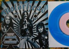 "Motorhead- Whiplash B/W Masterplan 7"" LTD Blue Wax Metallica, Plasmatics, Lemmy"
