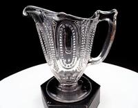 """EAPG GEORGE DUNCAN BEADED 101 CLEAR 4 3/4"""" CREAM PITCHER 1885"""