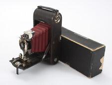 KODAK NO. 1A FOLDING POCKET SPECIAL, BURGUNDY BELLOWS, BOXED, ISSUES/cks/196426