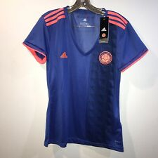 Adidas Colombia Jersey Away Womens Soccer Climachill Large NWT Blue