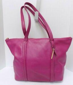 Vera Bradley Purse Shoulder Bag Pink Leather
