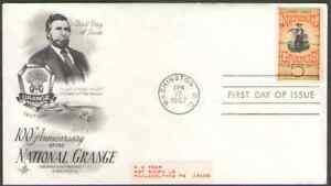 US. 1323. 5c. Grange Poster. Art Craft FDC. 1967