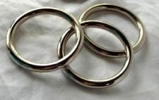 "1 3/4"" Steel O Ring Welded Nickel Plated Pack of 12"