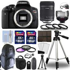Canon T6i / 750D Digital Camera + 18-135 STM Lens & TTL Flash 24GB Accessory Kit