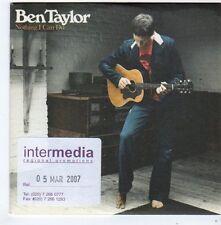 (FG350) Ben Taylor, Nothing I Can Do - 2007 DJ CD