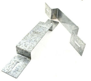 TIMCO HEAVY DUTY GALVANISED ANTI RATTLE FENCE PANEL SECURITY BRACKET 233 x 40mm