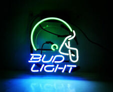 "Bud Light Helmet Neon Sign Light Beer Bar Pub Handmade Visual Artwork Gift10""x8"""