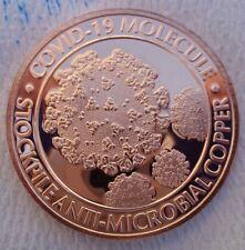 1 oz. C19 Virus Molecule Anti-Microbial round .999 fine copper