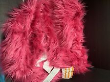 LG Pottery Barn Teen Himalayan Faux Fur Deep Pink BEANBAG COVER EASTER Gift NEW