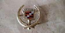 """Vintage Cadillac Belt Buckle Logo Emblem Hood Ornament Solid Brass 2.5"""""""