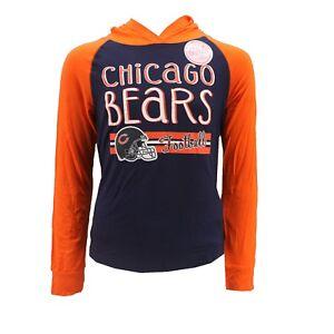 Chicago Bears NFL Apparel Kids Youth Girls Hooded Light Sweatshirt Style Shirt