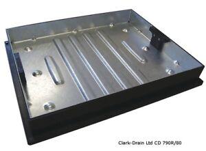 CLARK DRAIN BLOCK PAVING PAVIOR RECESSED MANHOLE COVER 600x450X80MM CD 790R/80