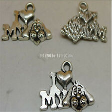 20pc Tibetan Silver DOG Charm Beads Pendant Findings wholesale  PL529