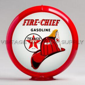"Texaco Fire Chief 13.5"" Gas Pump Globe w/ Red Plastic Body (G195)"