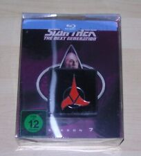 STAR TREK THE NEXT GENERATION SEASON 7 LIMITIERTE STEELBOOK + PIN BLU RAY NEU