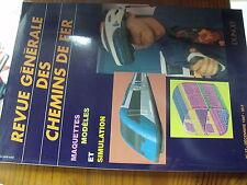 µ?. Revue Generale des Chemins de Fer RCGF 12/1997 Maquettes Modeles Simulation