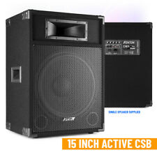 "CSB 15"" Active DJ Speaker PA Sound System and Built-in 800w High Power Mixer Amp"