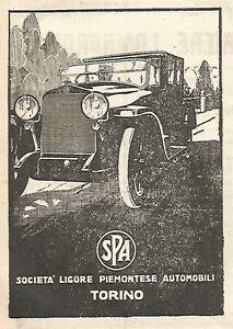 Y2892 Society Ligure Piedmont Automobili - Advertising Of 1923 - Old Advert