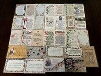 Lot of 32 Antique  Arts & Crafts Poems~Mottos~Quotations Vintage Postcards-h218