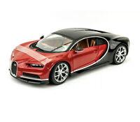 Bugatti Chiron Red/Black/Chrome 1:18 Model Car Maisto Special Edition, New