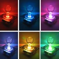Arcade LED Illuminated Joystick Colorful Switchable from 4 to 8 way operation