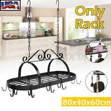 Iron Kitchen Storage Hanging Rack Pot Holder Pan Hanger Shelf Cookware With