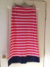 Regular Size Striped Cotton Blend Maxi Dresses for Women