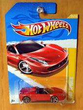 Hot Wheels Ferrari 458 Spider [ERROR SMALL rear wheels/Large fronts] - New/RARE