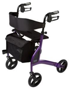 Premium 4 Wheel Walker - Alpha 438 Rollator - Side Folding - Lightweight 6kg