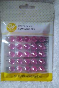 Wilton Sweet Gems Isomalt 0.3oz Color Pink Cake Decorating New