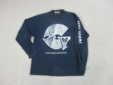 VINTAGE Wu Wear Shirt Adult Extra Large Blue White Gza Hip Hop Rap Tee Mens 90s*
