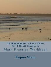 30 Days Math Less Than: 30 Worksheets - Less Than for 1 Digit Numbers : Math...