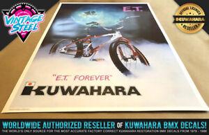 ET - Kuwahara E.T. BMX Poster 23x35 (Original Size) - The Extra Terrestrial 1982