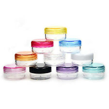 10Pcs Clear Plastic Sample Lip Balm Container Small Bottle Jars Vial Small Empty