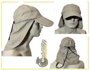 Cap Cappello Berretto cappellino desert safari sahara copri collo sabbia estivo